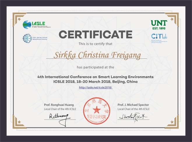4th ICSLE____-Sirkka Christina Freigang